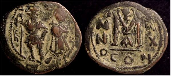 40 Nummi de Heraclio y Heraclio Constantino. Constantinopla Sb0810