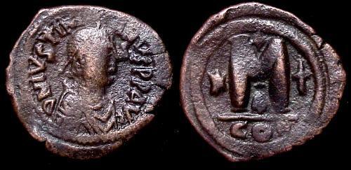 40 nummi de Justiniano I.  Sb0158