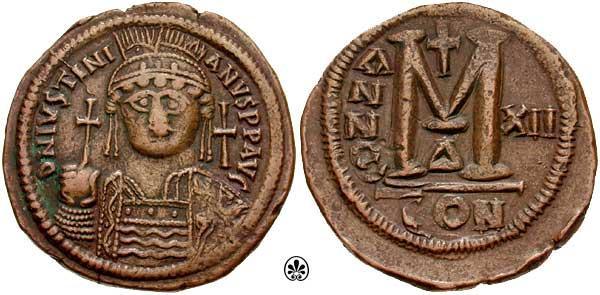 Follis bizantino de dificil atribución Sb0163.1