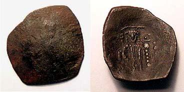 Trachy imitativo del Imperio Latino, ceca Tesalonica Sb2056