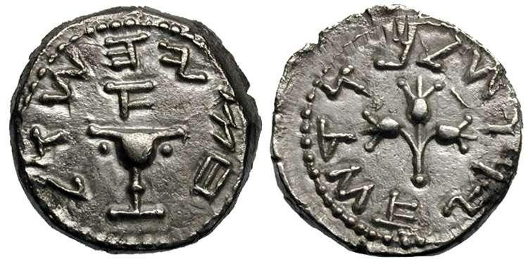"""مسكوكات يهوديه """" أول فيلس يهودي سكه لهم الرومان بعيد انتهاء الحرب الرومانيه اليهوديه """" Hendin_656.1"""