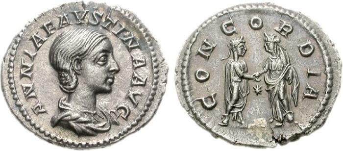 مسكوكات الامبراطوره أنيا  اوريليا فوستينا RIC_232