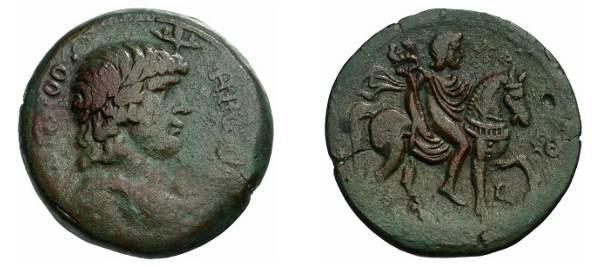 مسكوكات الامبراطور أنطونيوس يفضل قرائته  Milne_1481var