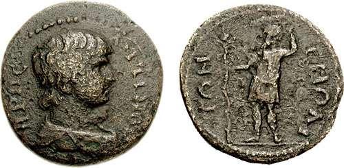 مسكوكات الامبراطور أنطونيوس يفضل قرائته  _tmolus_AE25_SNGvA_3240