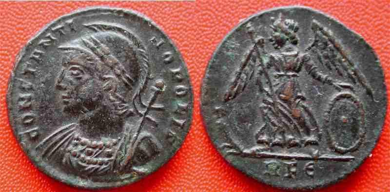 AE3 Conmemorativo de la fundación de Constantinopla _rome_RIC_332.1