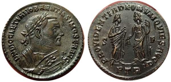 Follis de Diocleciano post-abdicación _trier_RIC_673a
