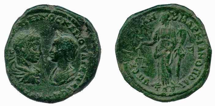A la atención de Benyusuf: 5 assaria o pentassarion Marcianópolis. Aequitas- Némesis _markianopolis_AE27_Moushmov_674