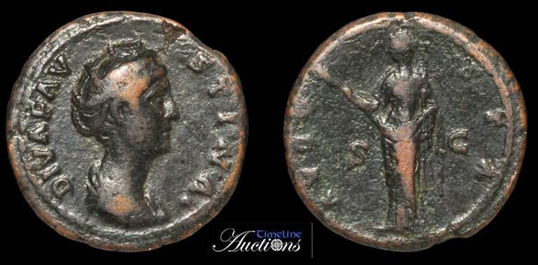 As de Faustina I RIC 1177 RIC_1177