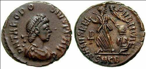 AE4 de Teodosio I. SALVS REIPVBLICAE. Cycico _cyzicus_RIC_026b