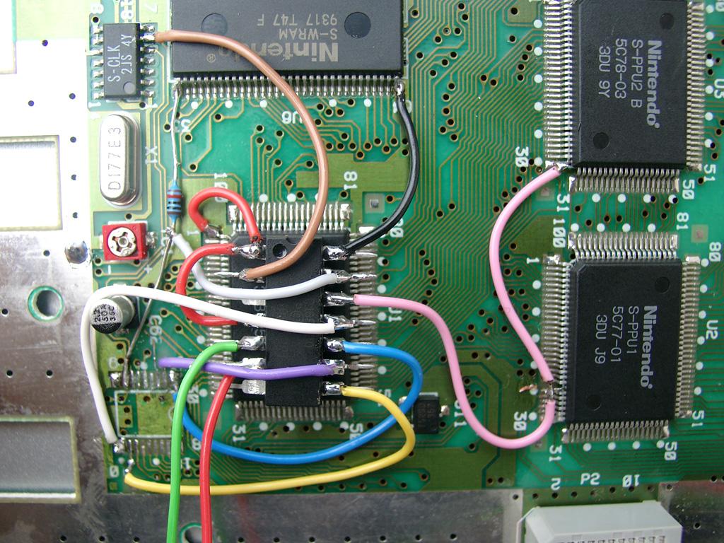 Super Nintendo. Modificación CIC y 50/60 Hz sin interruptores. Supercic_5