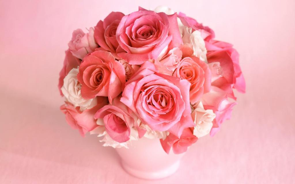 வால்பேப்பர்கள் ( flowers wallpapers ) 01 - Page 12 Bouquet-rose-flowers-wallpaper