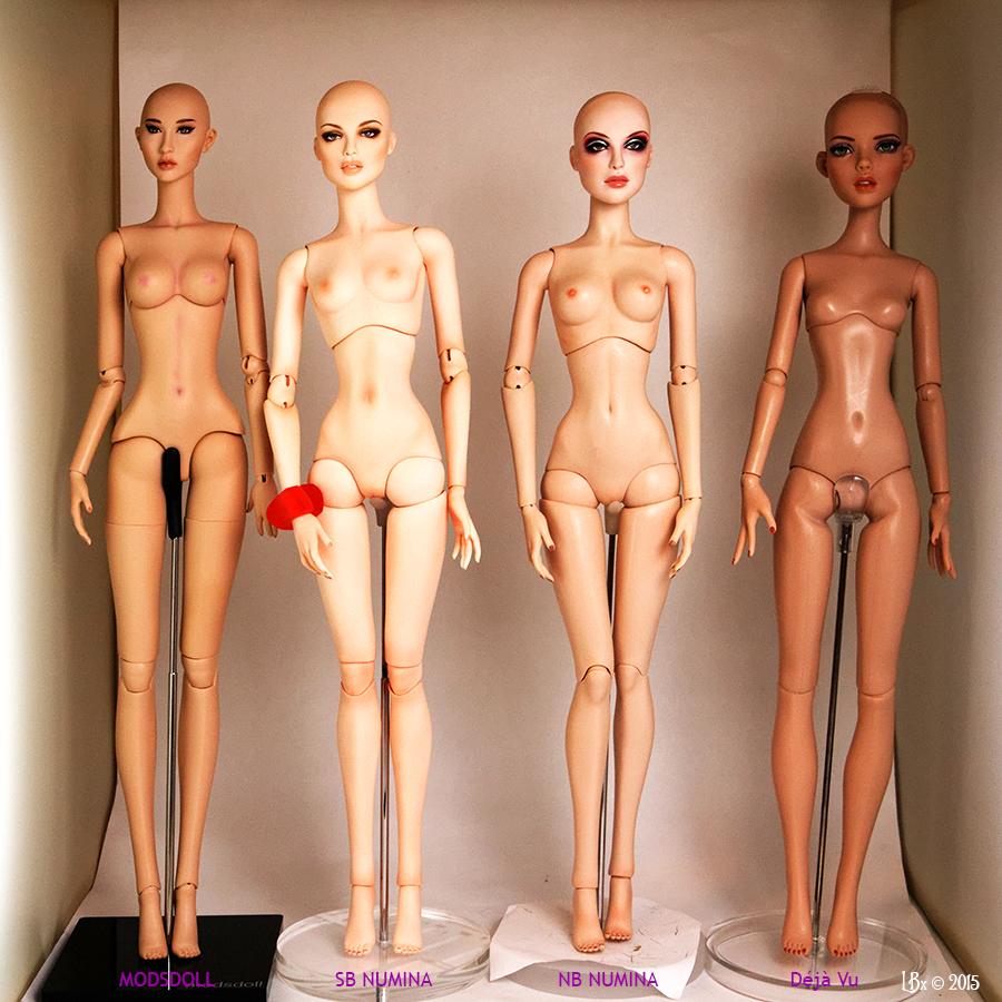 Comparaisons corps fashion dolls: images & liens Comparison16Front