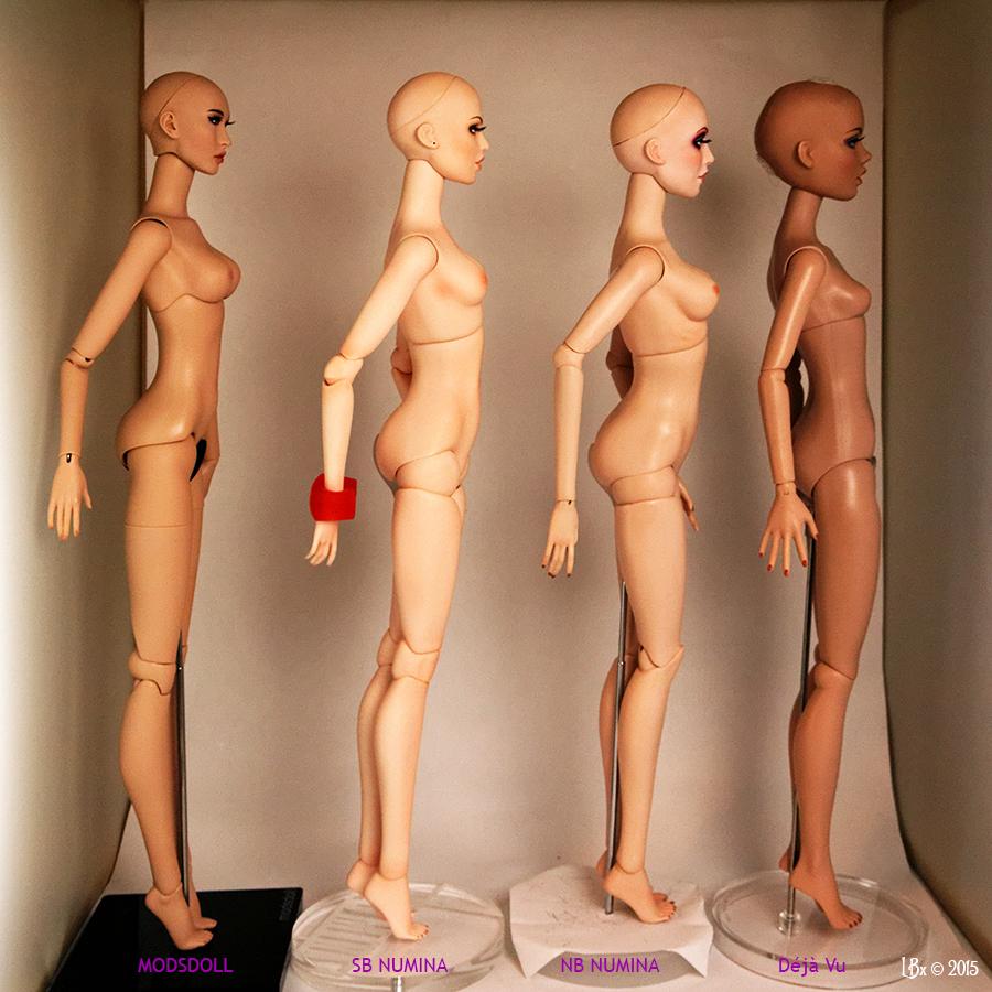 Comparaisons corps fashion dolls: images & liens Comparison16Side