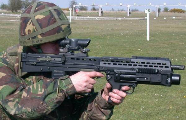 تشكيلة لأشهر البنادق الآلية للجنود المشاة Sa80-l85a2_ubgl