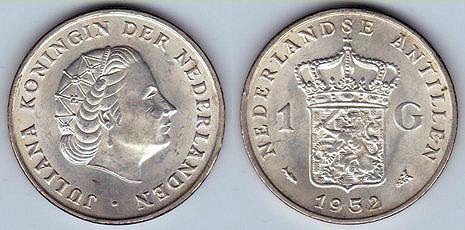 Antillas Holandesas, 1 gulden, 1952. 6-2