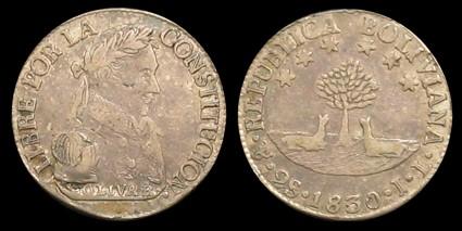 Medalla de la Independencia de Bolivia (1825) 24-95a