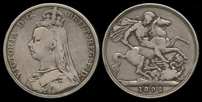 Great Britain - 1 Crown de Reina Victoria (London, 1887) 76-765