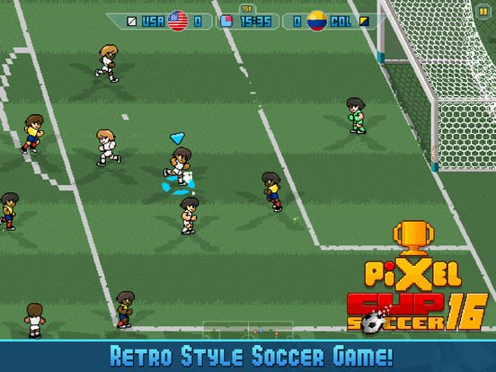 [IOS] Pixel CUP 16 - jeux de foot GRATOS offre limitée Pixel-cup-soccer-16