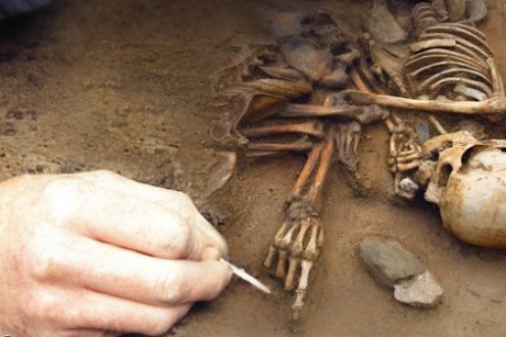 Archaeologists in Ireland Discover Remains of New Humanoid Species Skeleton-460x307