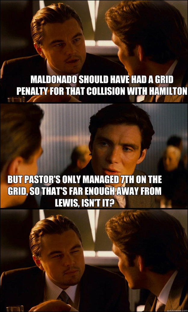 Pastor MalDONado Memes aka the greatest F1 driver of all time 3q08l7