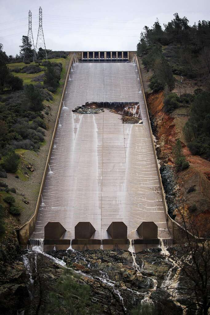 UPDATES - Huge Hole Opens Up at California's Oroville Dam Spillway  1024x1024