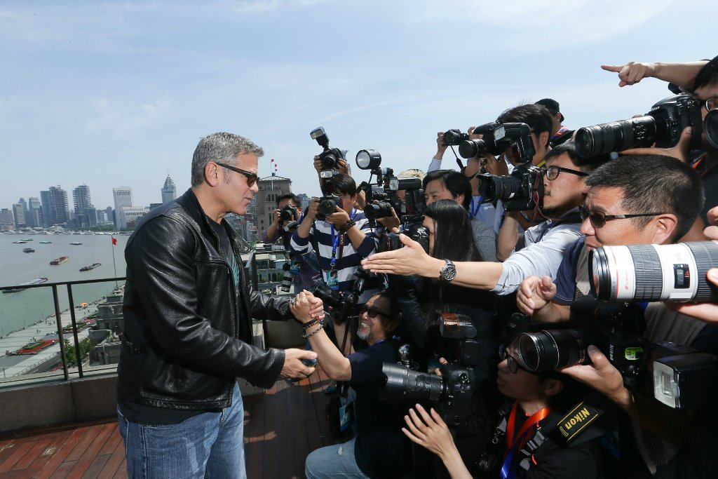 George Clooney in Shanghai Tomorrowland Premier 22. May 2015 61e75fb8gw1esd78lkzk7j21kw11xtkp