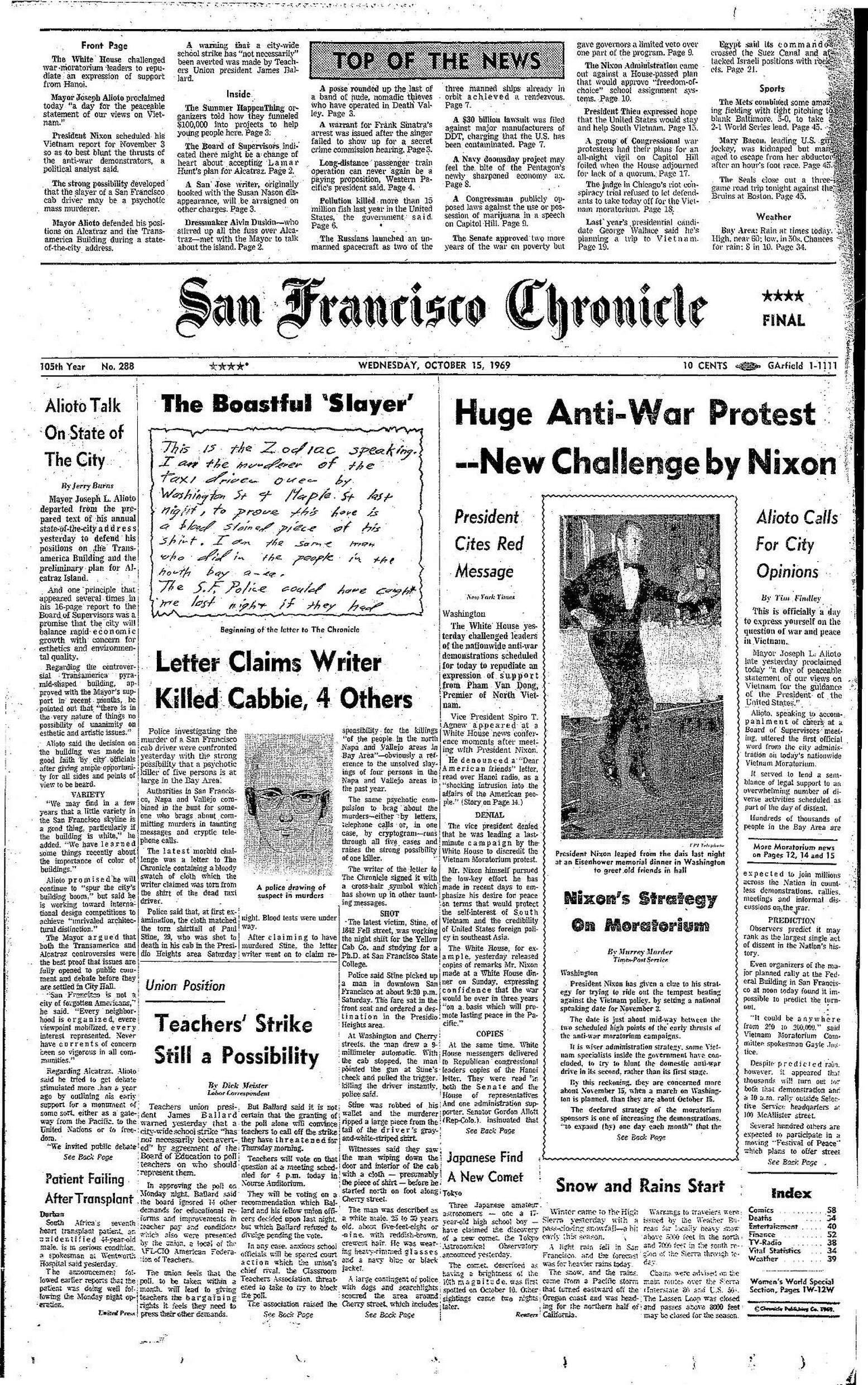 """""""Chronicle Covers: When the Zodiac killer wrote to the newsroom"""" 2480x2480"""