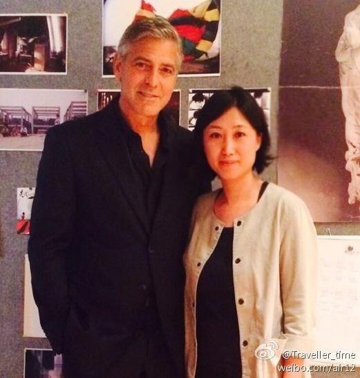 George Clooney visits a film studio in Shanghai, May 17th 6a5a1fe4jw1egiddjifyej20eh0f7gne