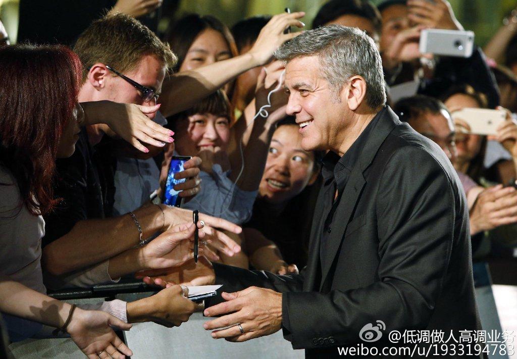 George Clooney in Shanghai Tomorrowland Premier 22. May 2015 733a361fgw1esdc7g9st7j21kw13hn97