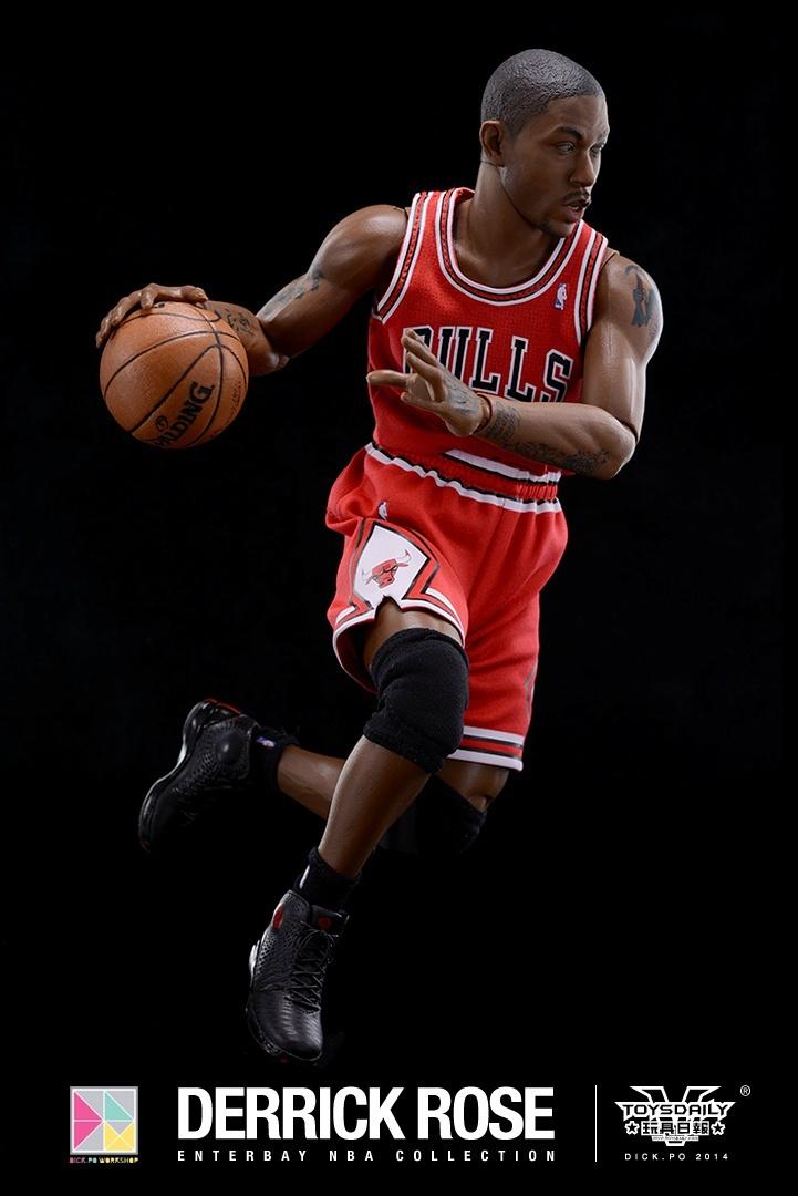 [Enterbay] NBA Real Masterpiece: Derrick Rose (Chicago Bulls) 9020f90fgw1edumts3c52j20k10u0q6y