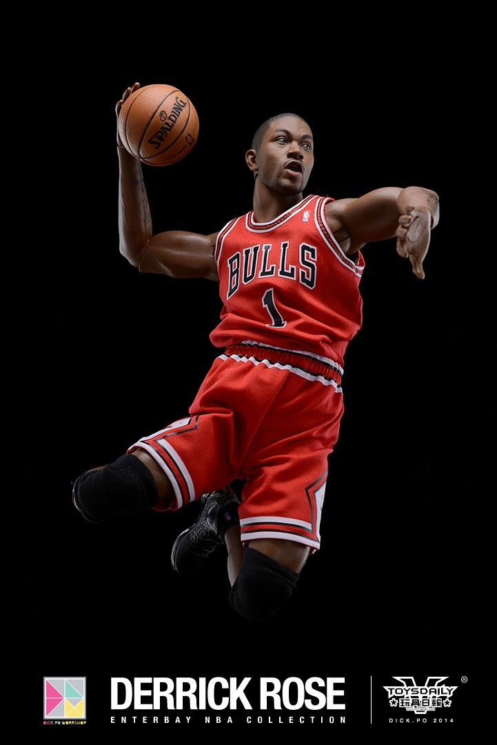 [Enterbay] NBA Real Masterpiece: Derrick Rose (Chicago Bulls) 9020f90fgw1edumtvm0l5j20k10u0djc
