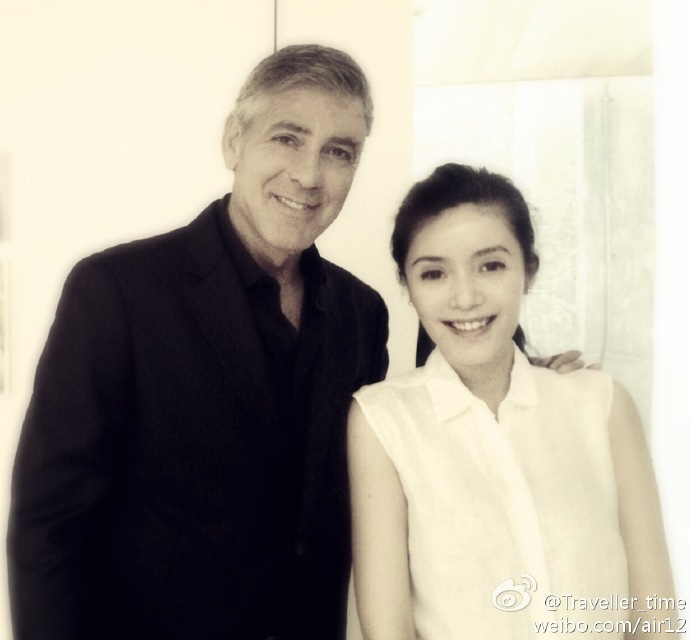 George Clooney visits a film studio in Shanghai, May 17th 6a5a1fe4jw1egiddl7740j20y80vqadz