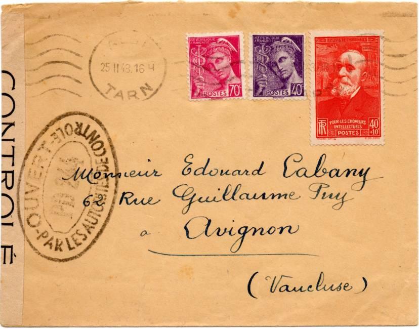 PM: lettre code pour Albi (contrôle postal sous Vichy) ?? 1943_cens_PD244_01a