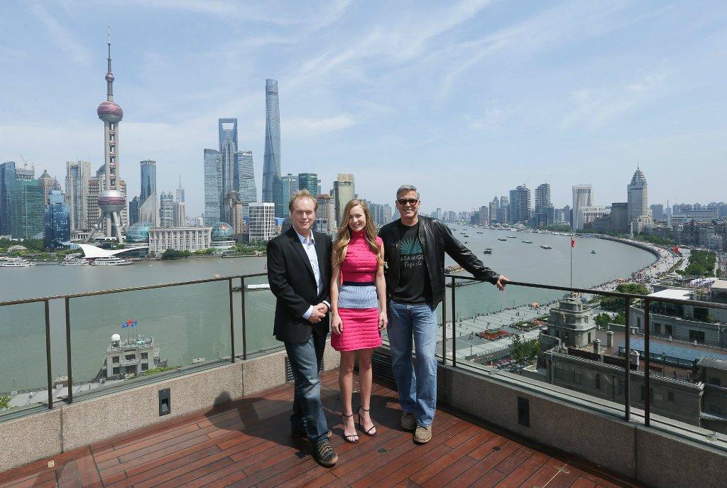 George Clooney in Shanghai Tomorrowland Premier 22. May 2015 61e75fb8gw1esd77xxfgkj21kw126nb1