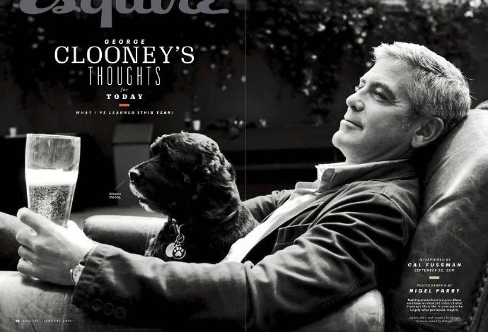 George Clooney and Einstein with Omega 693f7a02gw1eosrgruakoj20sg0jdwi4