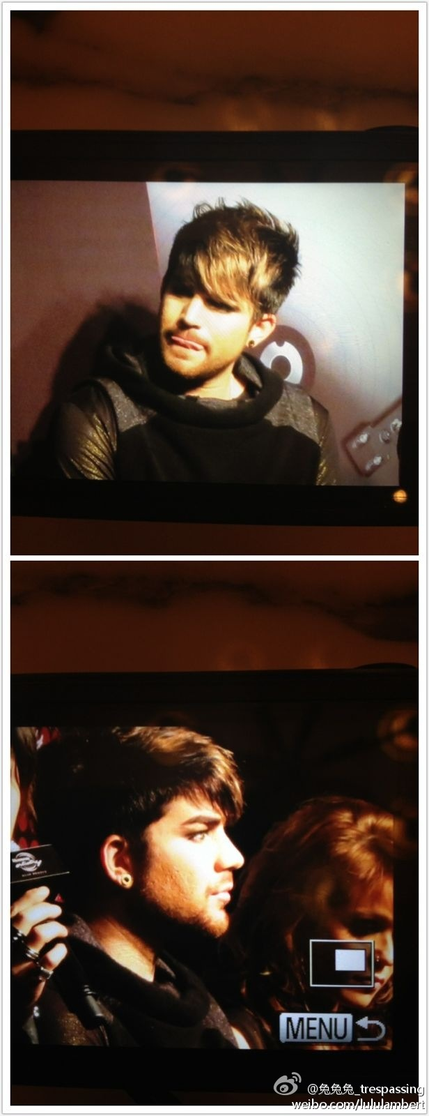 Adam Lambert's press conference for Hennessy event in Shanghai. 01.12.12 716e9303jw1dzef6mk1m4j