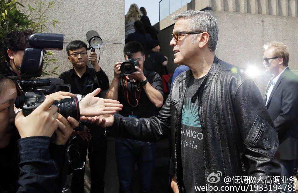 George Clooney in Shanghai Tomorrowland Premier 22. May 2015 733a361fgw1esd3msdfdoj21kw10sqfl