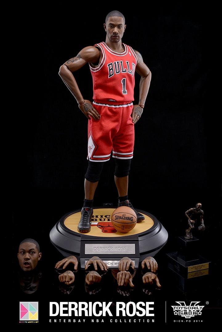 [Enterbay] NBA Real Masterpiece: Derrick Rose (Chicago Bulls) 9020f90fgw1edumtqab3bj20k10u0dke