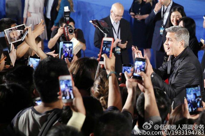 George Clooney in Shanghai Tomorrowland Premier 22. May 2015 733a361fgw1esdc63ihefj21kw11pwoe