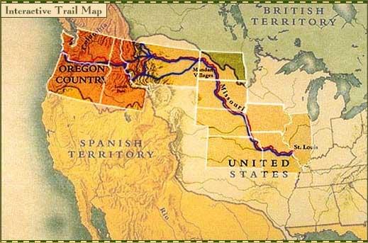 Conquête de l'Ouest américain Trailmap