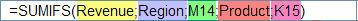 شرح دالة SUMIFS في إكسل 2007  Funexcel_8_4_11_5