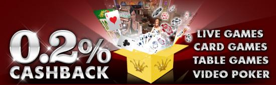 Gabung Kasino 12BET dan terima CASHBACK TANPA BATAS HARI INI! Cashback1