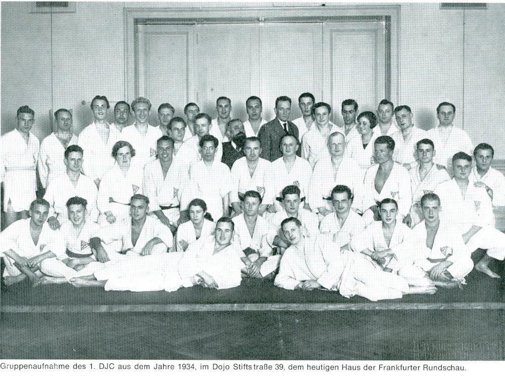 Kitayama Junyu 北山淳友 and judo in Germany  Gruppenbild1934