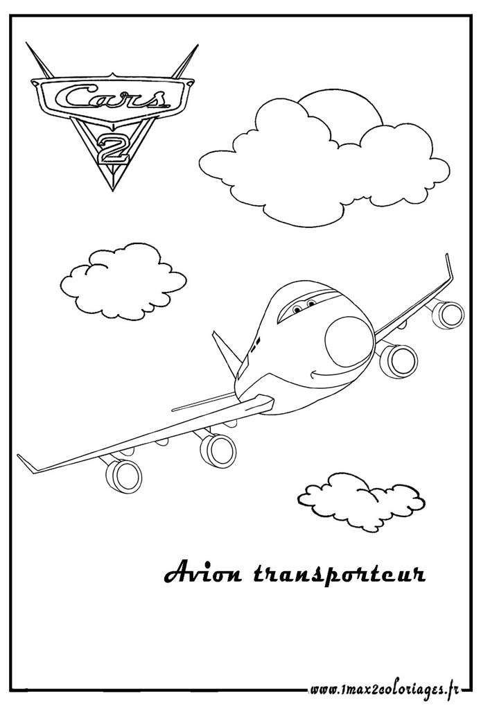 Coloriagesde Cars  2 - Page 9 Avion-transporteur_cars-2