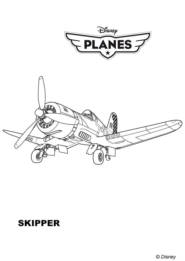[DisneyToon] Planes (2013) - Page 11 Coloriages-planes-skipper