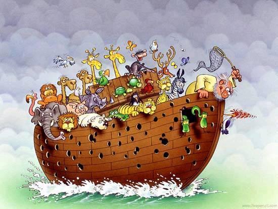 Дали човек може да избега од своето минато? Funny-cartoon-Noahs-Ark