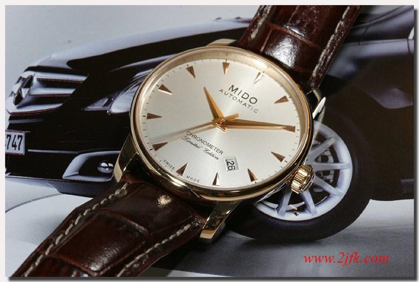 montre louis pion look vintage fond clair couleur or rose cuir marron Baroncelli_mb