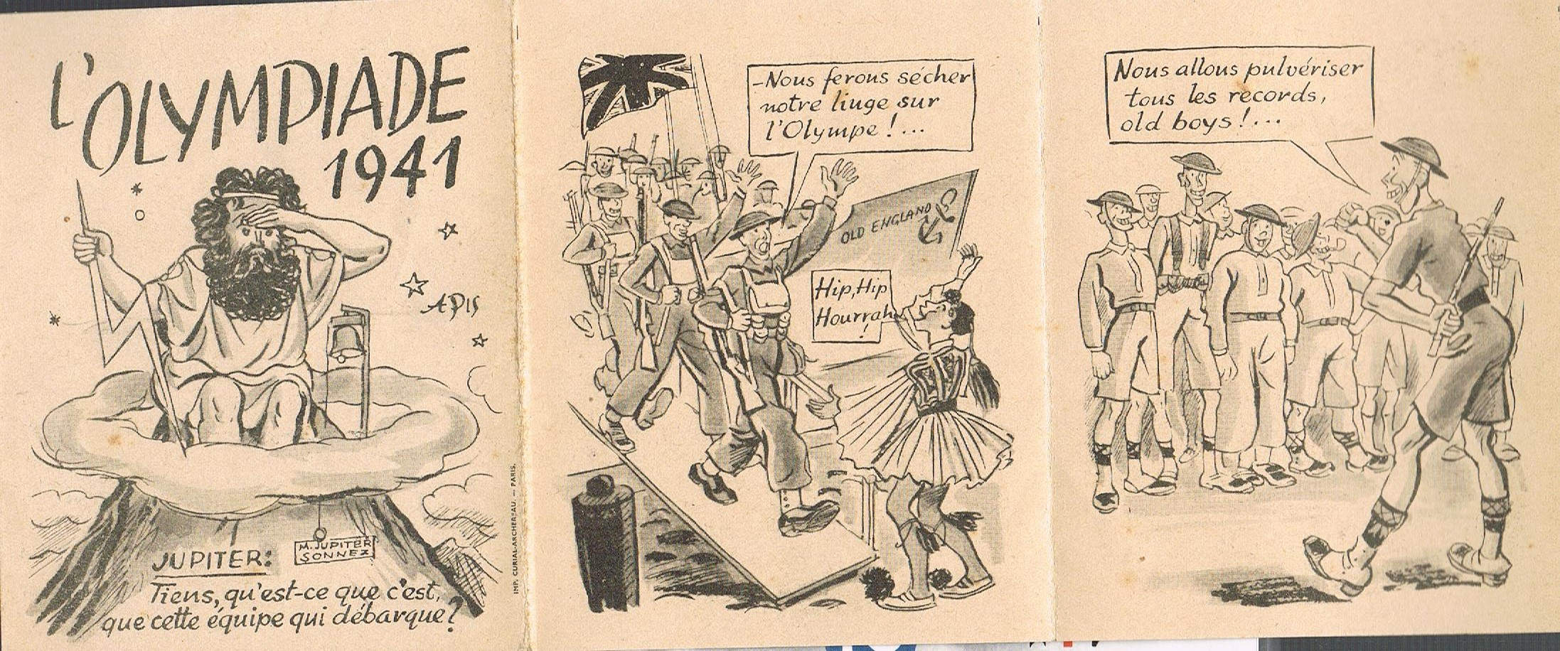 "Propagande Vichyste anti anglaise :"" Olympiades""  2494_OLYMPIADE2"