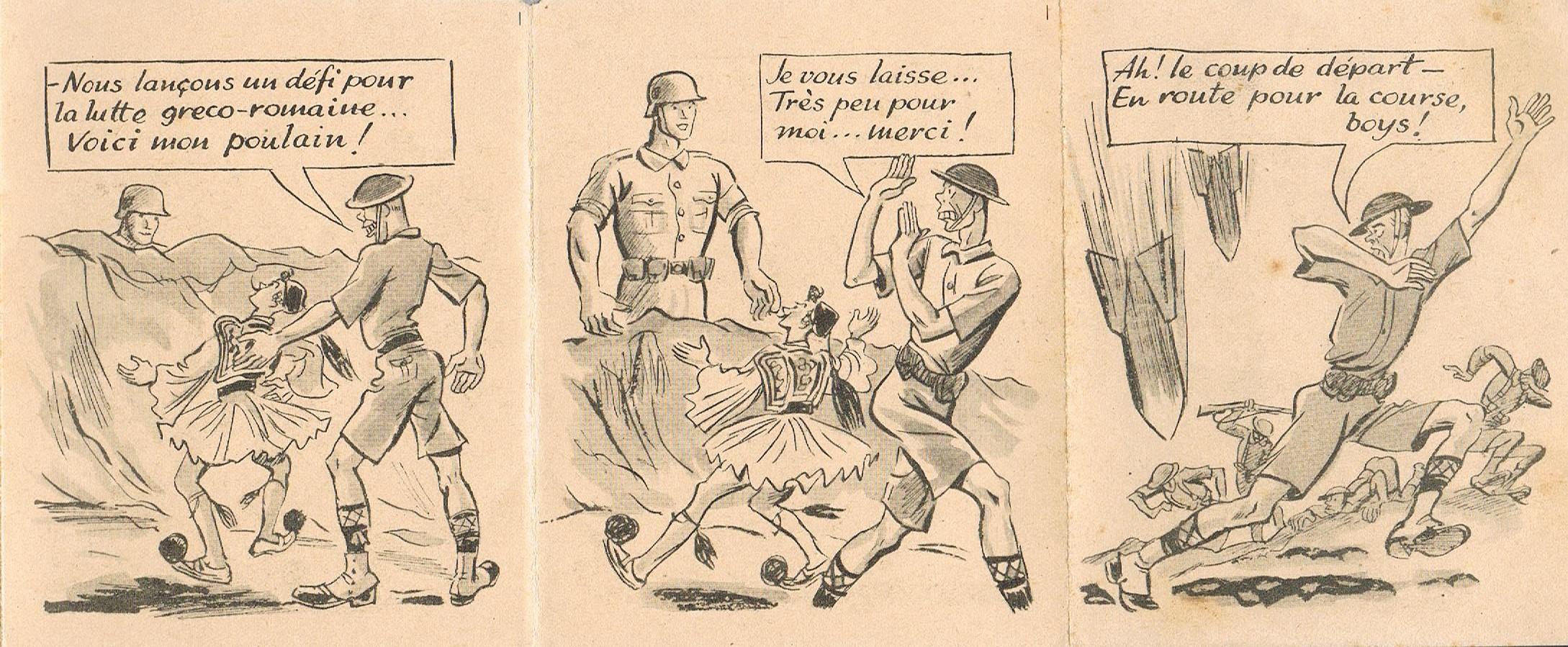 "Propagande Vichyste anti anglaise :"" Olympiades""  2494_OLYMPIADE3"
