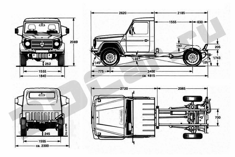الصناعة العسكرية الجزائرية  علامة  ً مرسيدس بنز  ً - صفحة 6 Mercedes_G_Pickup_Chassis_1986